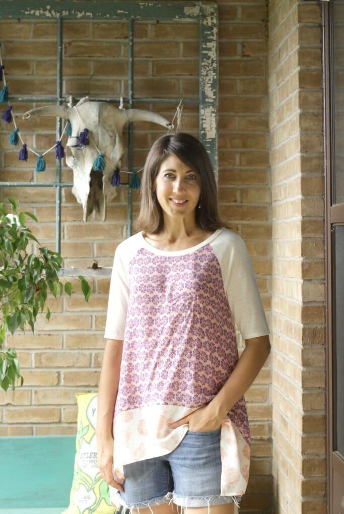 Handkerchief blouse from Katie Grace