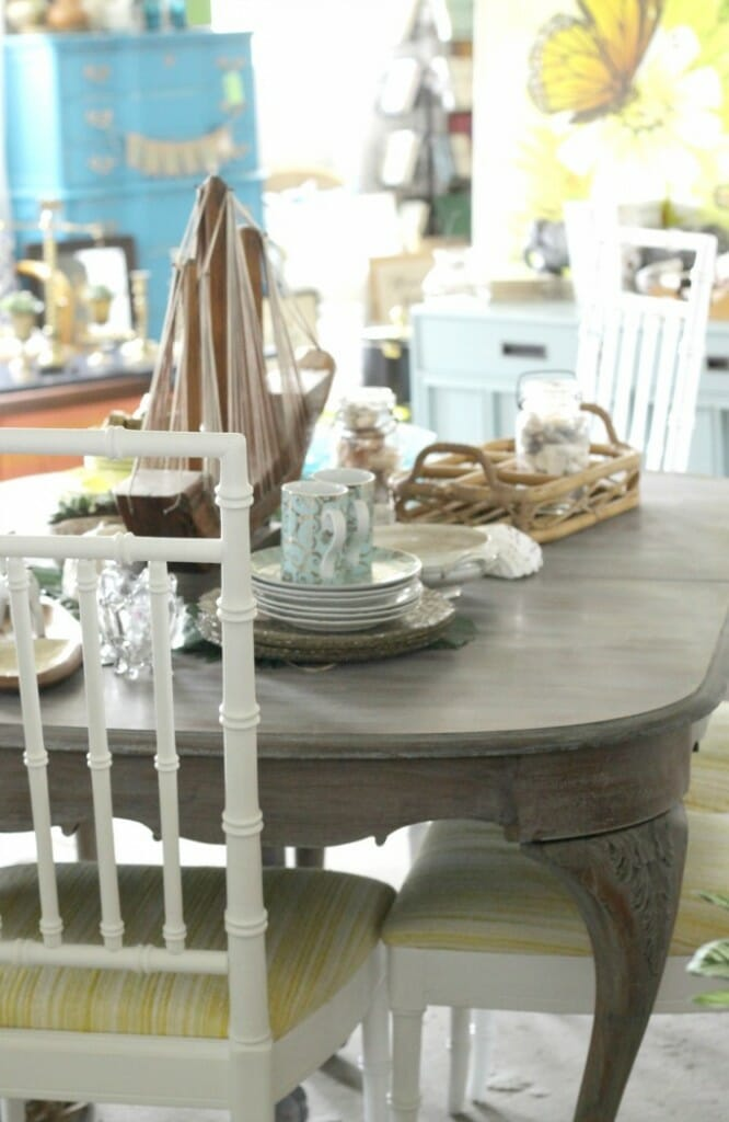 Bamboo Chairs Painted with Amy Howard One Step Paint