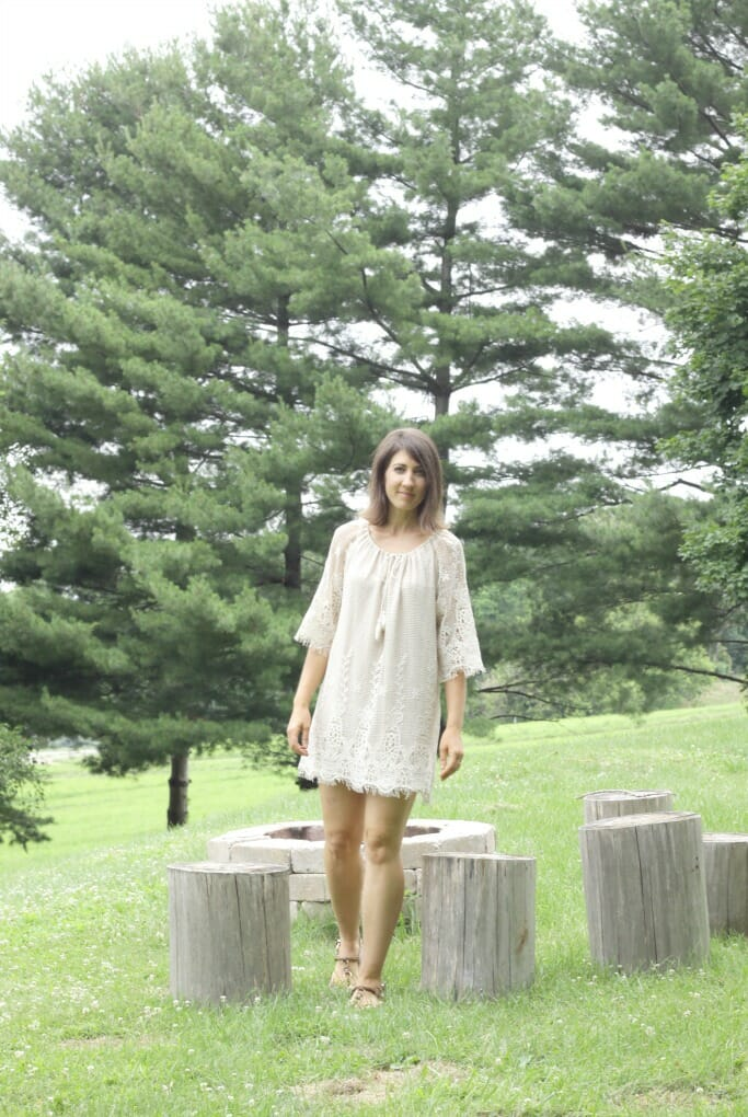 Eyelash Hem Dress from Katie Grace
