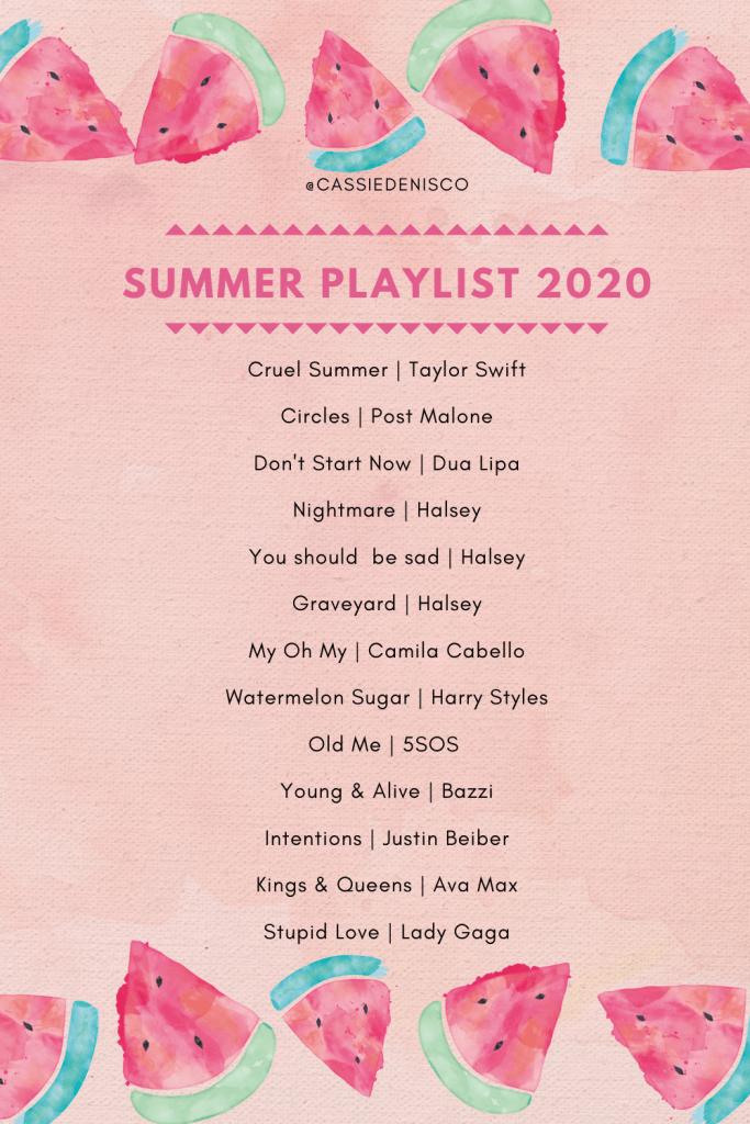 summer playlist 2020