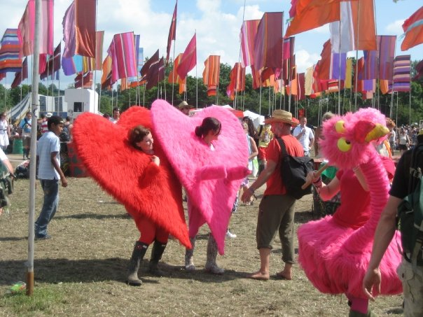 Loving fancy dress at Glastonbury 2009