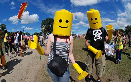 Lego people at The Big Chill