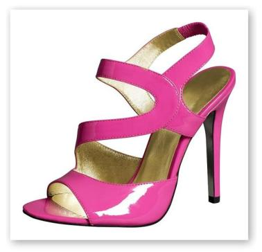 Strappy patent heels - also available in black
