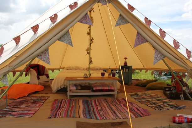 bell tent camping glamping vintage 2