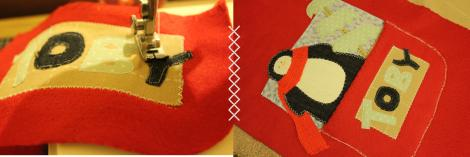 craft project christmas stocking penguin design dunelm