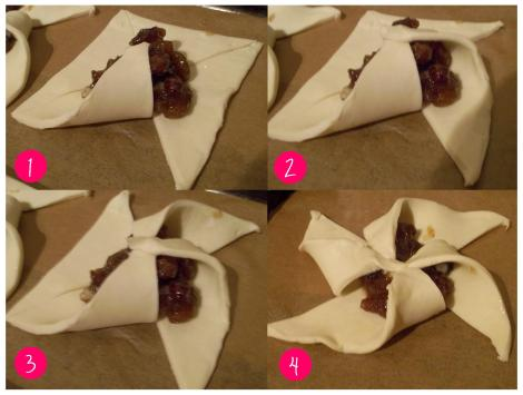 recipe instructions making sweet and savoury star tarts