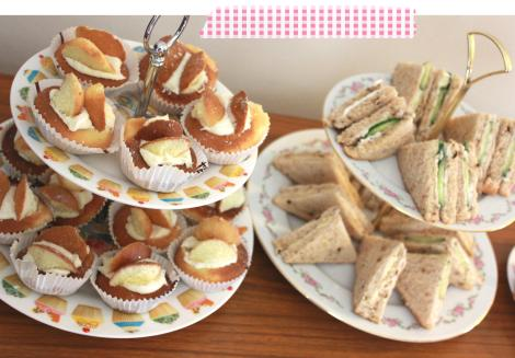 afternoon tea event dinner party cupcakes sandwiches