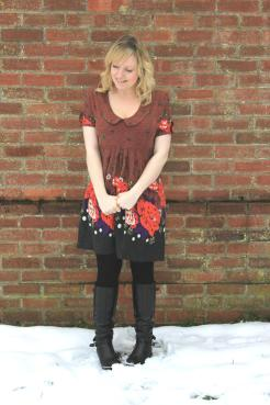 cassiefairy christmas snow and january sale bargain dress from Apricot