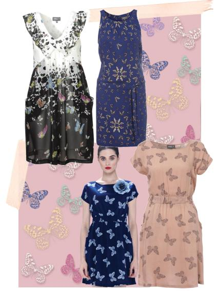 butterfly dresses spring trend from Apricot 2013