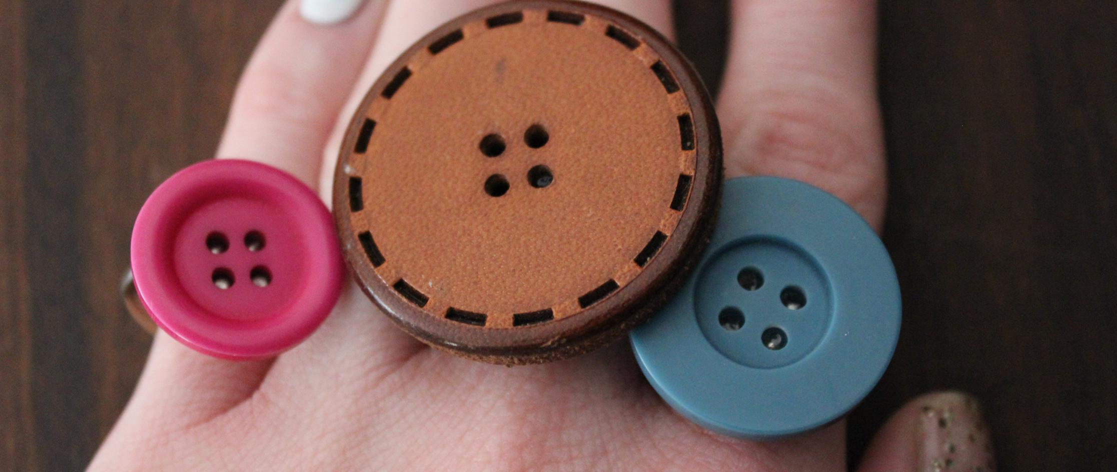 Button up upcycle your old buttons into fashion accessories for Michaels crafts button maker