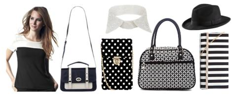 fashion monochrome trend black and white 2013 accessories from ellos new look primark