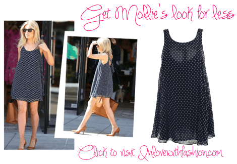 The Saturdays Mollie King dress from Inlovewithfashion special offer discount navy polka dot fashion