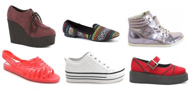 tuesday shoesday 90s fashion footwear trend 2013 flatform trainers jelly shoes