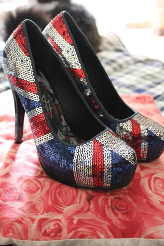 tuesday shoesday iron fist union jack shoes like spice girls 90s platform heels footwear