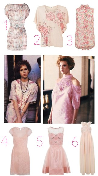 get molly ringwald 80s pretty in pink fashion look prom dress 2013