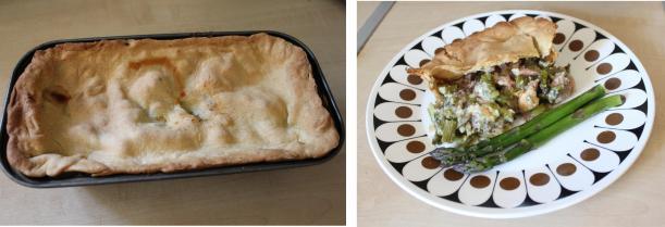 pieday friday ham and asparagus pie recipe on cassiefairy blog