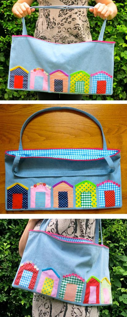 inspiration challenge beach hut bag by Lucy Loves Ya blog