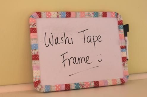 paper craft DIY project washi tape frame by cassiefairy
