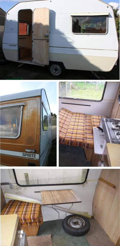 cassiefairys vintage caravan project original photos of sprite interior