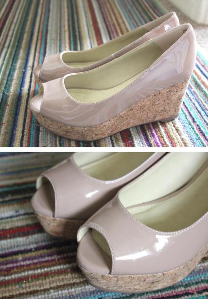 tuesday shoesday nude peep toe wedge heel summer shoes 2013 from next