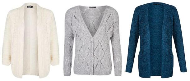autumn winter 2013 fashion trend chunky knit jumpers and cardigans from george at asda