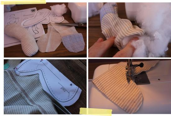 cassiefairys inspiration challenge on the blog - sewing a teddy bear for my nephews christening gift