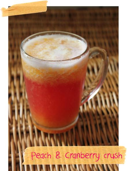 pieday friday peach and cranberry crush cooler drink for summer