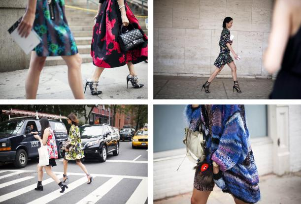 street style fashion at new york fashion week floral grunge fall autumn winter 2013