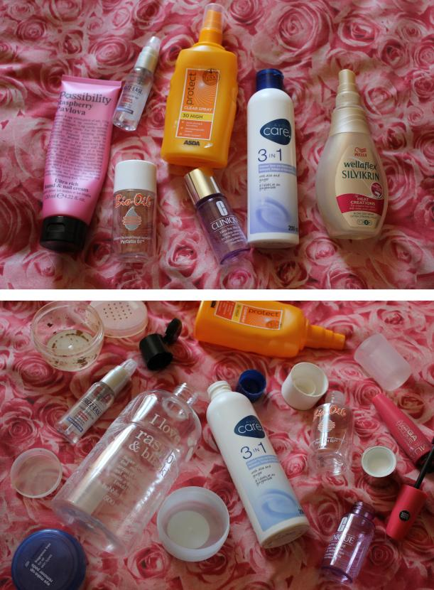 cassiefairy money saving use up make up and beauty challenge