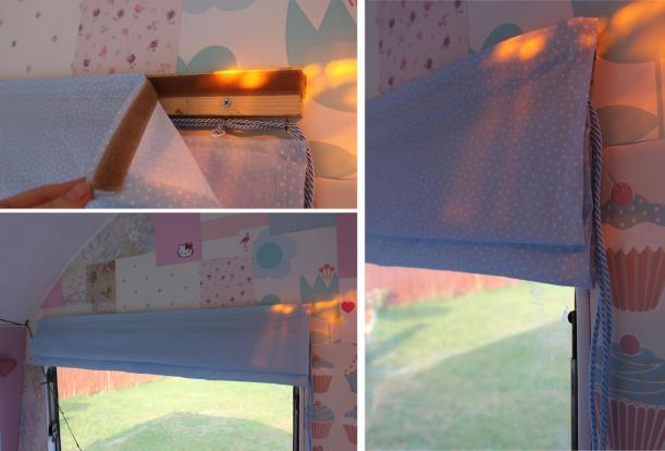 cassiefairy vintage caravan DIY sewing project making roman blinds