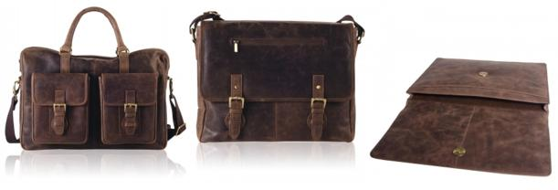 distressed leather laptop bag holdall and satchel from teals boutique