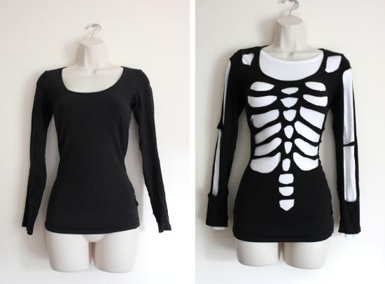 diy skeleton before and after