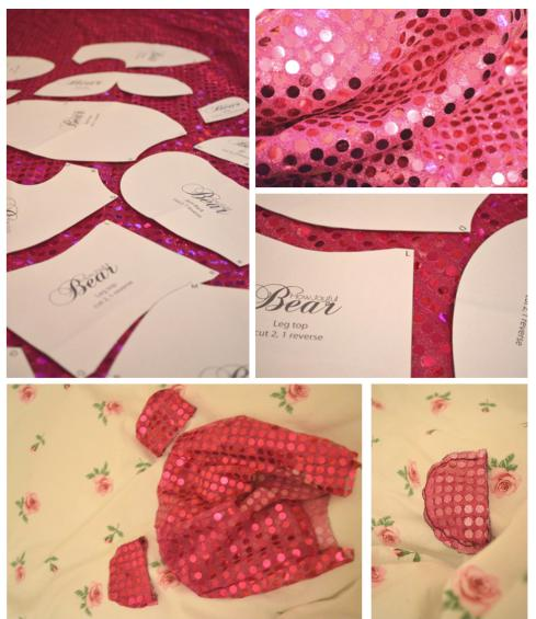 inspiration challenge for sept 2013 Jenna from Glitter Daze sparkly teddy bear sewing project