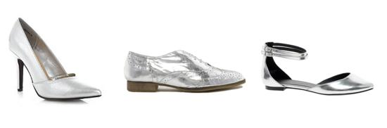 tuesday shoesday silver shoes autumn winter 2013 footwear trend from asos new look dune