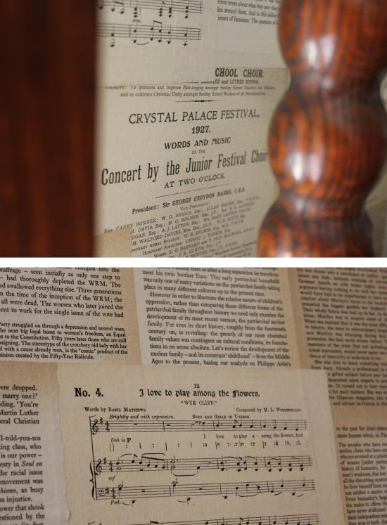 diy book pages and sheet music wallpaper to decorate walls