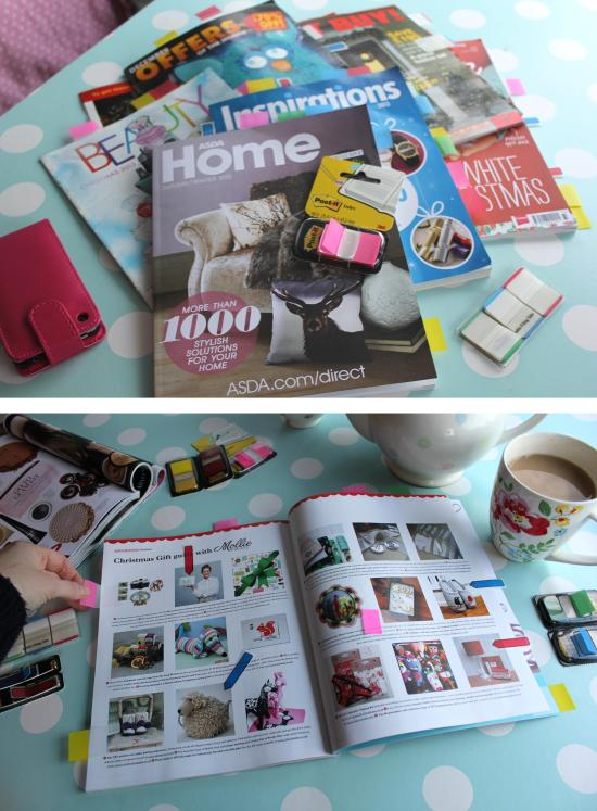 getting organised with christmas gift guides using Post its