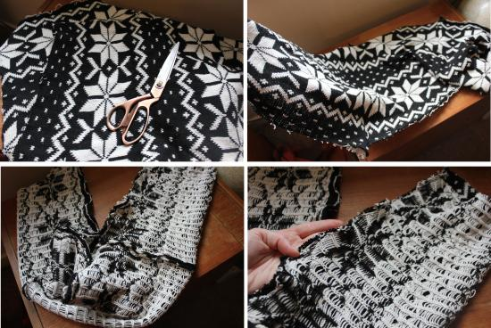 christmas sewing project DIY snood scarf