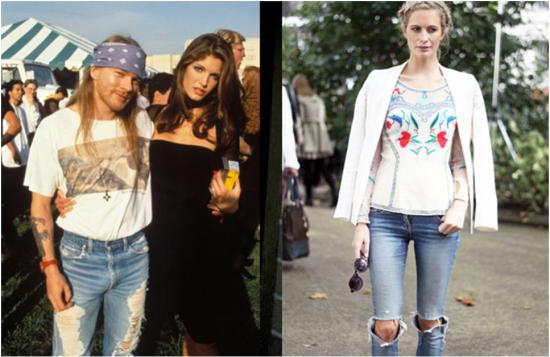 80s rock and roll fashion for men Axl Rose
