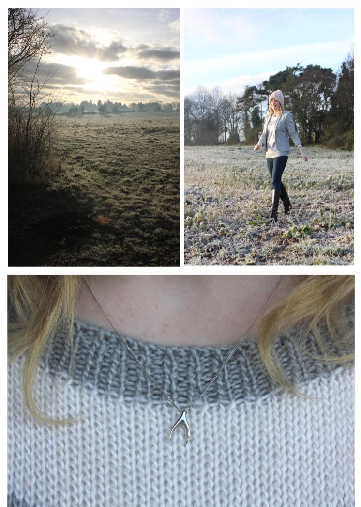 frosty morning walk fashion brag vintage jumper