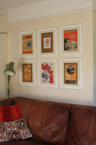 Using vintage sheet music and show posters to make retro artwork