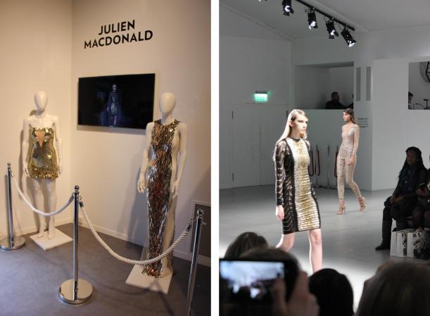 metallics at Julien Macdonald London Fashion Weekend 2014