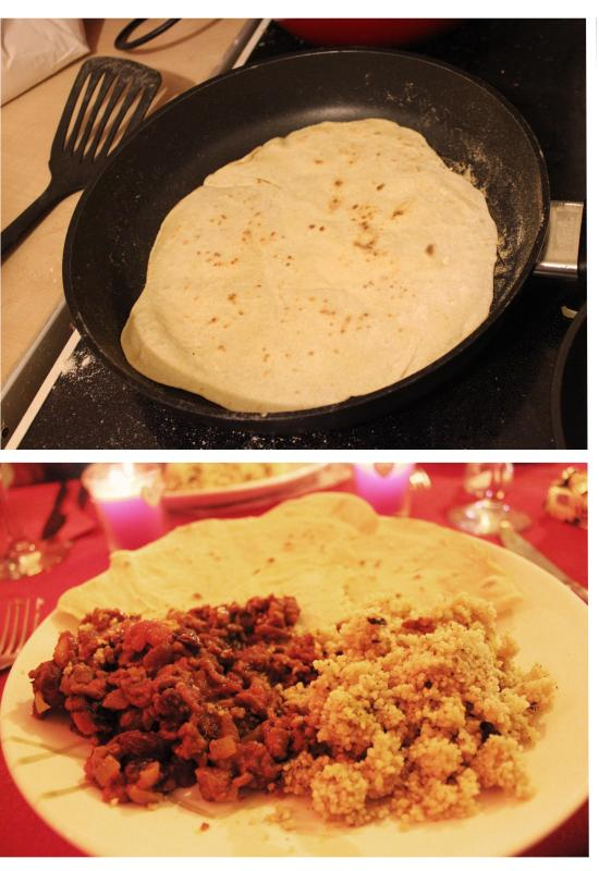 pieday friday recipe - how to make a lamb tagine and tortilla bread