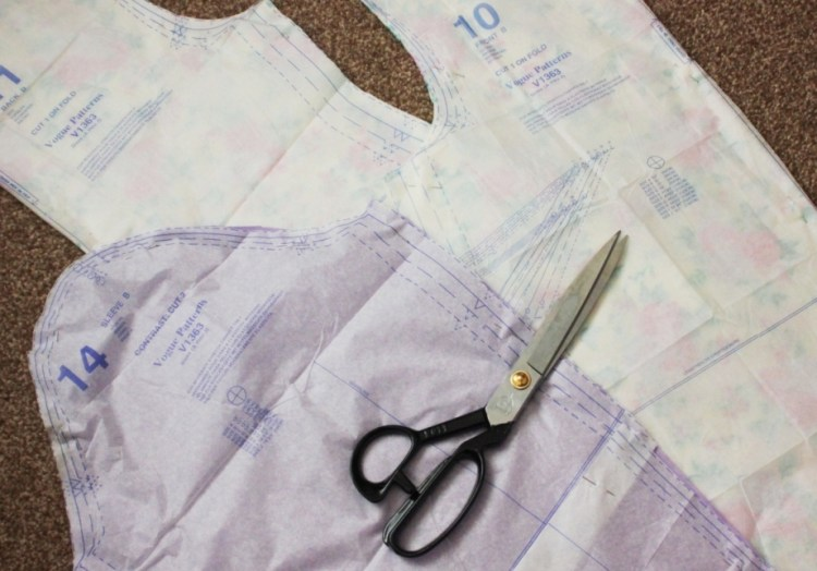 my stretch fabric DIY sewing project - pattern pieces