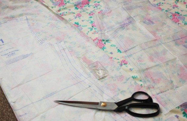 my stretch fabric sewing project - cutting