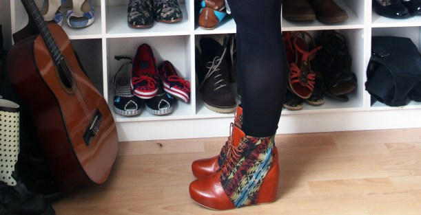 fashion footwear - feeling stylish Jeffrey Campbell aztec shoe boots