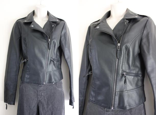 thrifty fashion looks - styling a black leather jacket four ways
