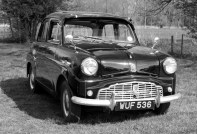 vintage car rally black and white