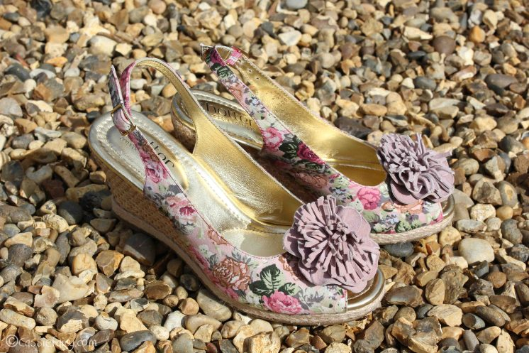 Summer 2014 floral slingback wedges from Hotter Shoes-6