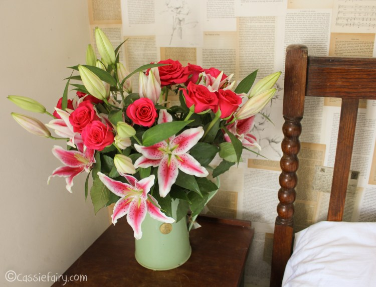 pretty summer flowers - roses and lillies - by cassiefairy blog 2014