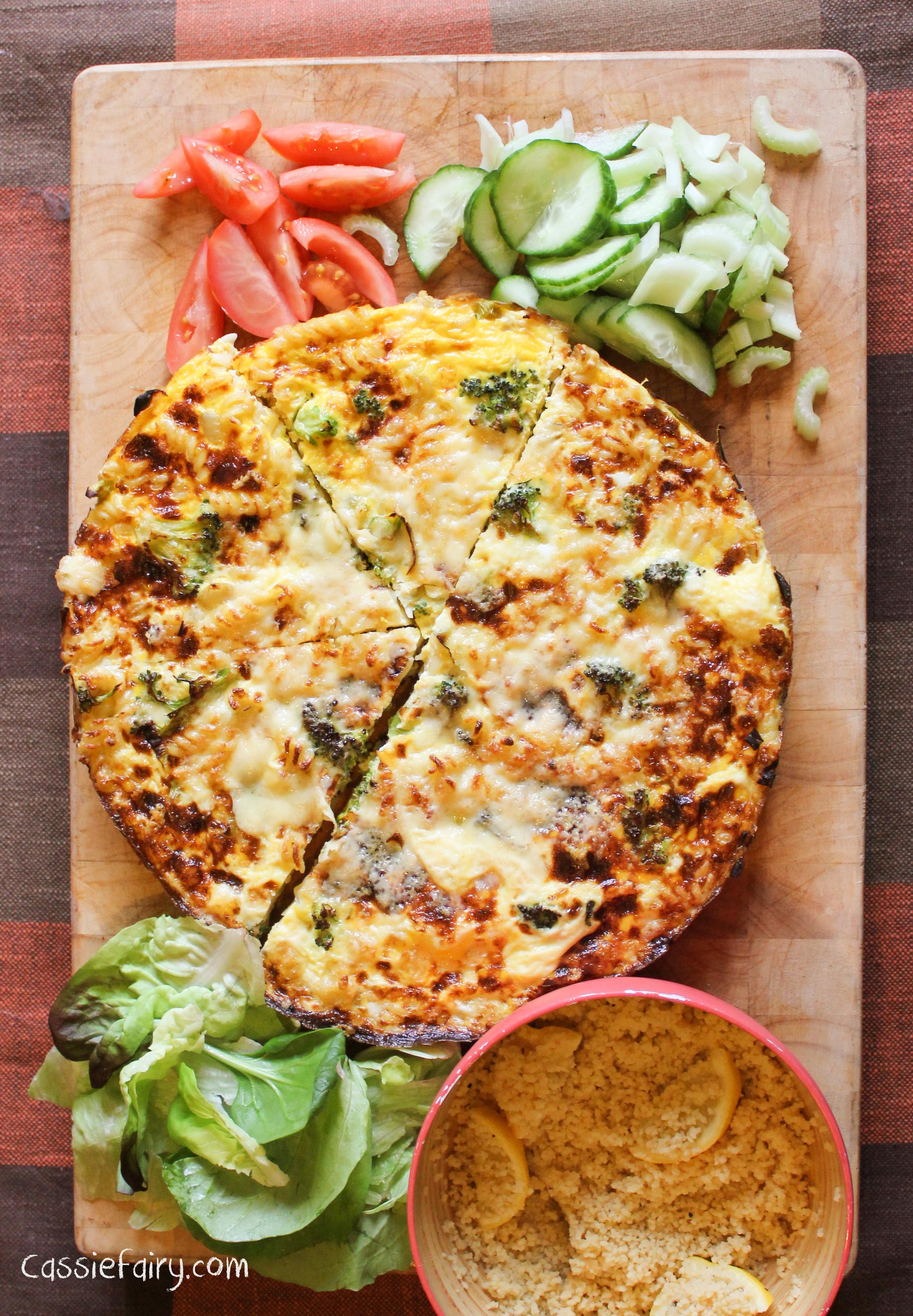 Cheese & Broccoli Pasta Frittata